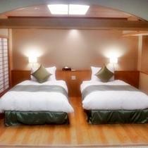 花見亭和洋室ベッドルーム