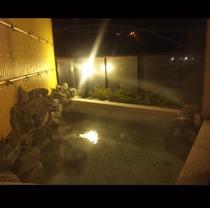 夜の露天付貸切風呂