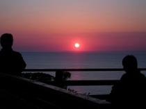 雲見温泉 思い出岬からの夕日