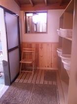 貸切露天風呂の脱衣室