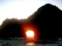 千貫門の夕日