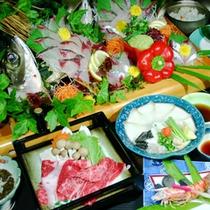 【豊後名物会席】大分産アジを中心に大分名物を取りそろえた会席料理です♪