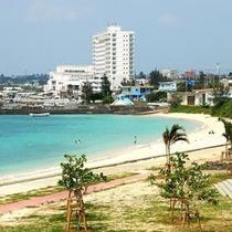 パイナガマビーチより見えるホテル