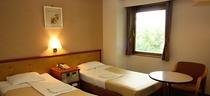 ツインルーム(一例)広い室内でゆったりおくつろぎ頂ける空間