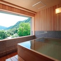 【最上級客室】特別客室の展望風呂