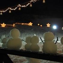 お客様作のかわいい雪だるま!