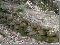 小谷城石垣の名残り