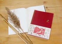 葦でできた手帳です。