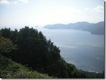 賤ヶ岳からのぞむ琵琶湖