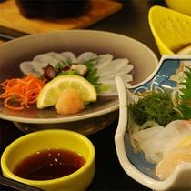 【ご夕食】三河湾で獲れたばかりの新鮮な海の幸は絶品です