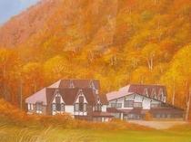 秋のハイランドロッジ