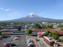 ルーフトップからの富士山