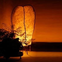 【館内イメージ】和紙の照明はやわらかい空間を演出する津和野の旅には欠かせないわた屋の必須アイテム