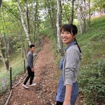リゾリックスの周辺には自然に囲まれた散策路があります