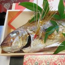 【焼鯛一例】お祝いの席にふさわしい一品もご用意できます