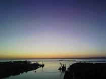 客室からの夕日(冬)