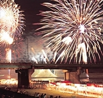 筑後川の花火