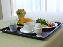 ★朝食メニュー(洋食)★トーストにこだわりスープ・サラダ・ハムエッグをお付けいたします