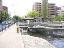 ★西川緑公園②★西川沿いには、美味しいお店やおしゃれなお店が軒を連ねております