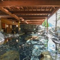 *【女性露天風呂】すべて100%源泉掛け流しで、加温加水循環もない源泉たっぷりの贅沢な温泉です!