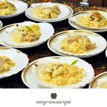 青森近海でとれた新鮮なホタテを使用した貝焼き味噌をご賞味下さいませ。