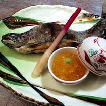 *夕食 岩魚塩焼き(一例)