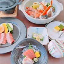 三梨牛と海鮮鍋