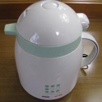 ★湯沸かしポット★客室の蛇口のお水で沸かしてお使いくださいませ