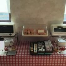 パンコーナー(無料朝食)