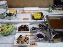 無料朝食(和食ミニバイキング)3