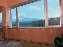 大浴場からの富士山
