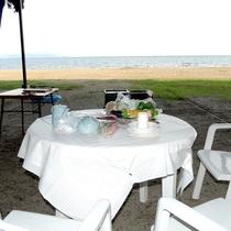 琵琶湖を眺めながらみんなでわいわいBBQ♪