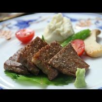 季節の会席 飛騨牛のステーキ