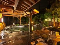 庭園大野天風呂(夜)