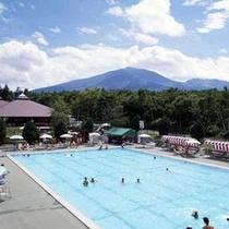 夏期のみ営業温水プール