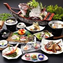 【海幸を満喫♪】足赤海老・彩りお造り4種と鯛づくし会席