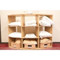 選べる貸出枕(各階設置)