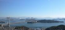 ホテルからの瀬戸大橋