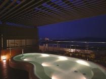3階・露天風呂(女性用・夜)