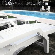 ガーデンプールとデッキチェア