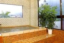 塩原の山を望める展望風呂です。