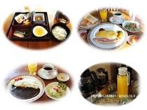 朝食3種類・ドリンク類
