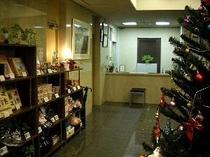 クリスマス時期のフロント風景