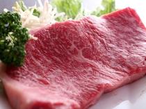 別注の和牛ステーキ