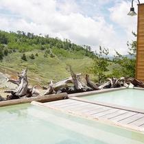 【温泉】夏の露天風呂
