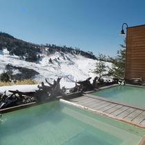 【温泉】冬の露天風呂