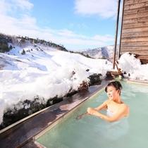 【温泉】雪見の露天風呂