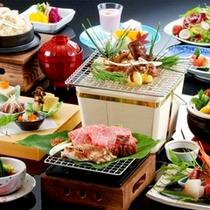 ≪松茸会席一例≫秋味覚の王様、松茸をいろんな料理法でご堪能下さい。
