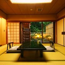 【デラックス客室一例】2間続きの広々とした和室客室になります。ご家族やグループでご利用ください。