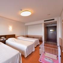 *【ロードス棟・トリプル一例】景観バツグン!ペット同伴宿泊対応のお部屋です◇